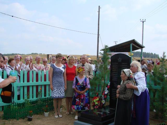 Торжественное открытие обелиска в честь павших в Великой Отечественной Войне