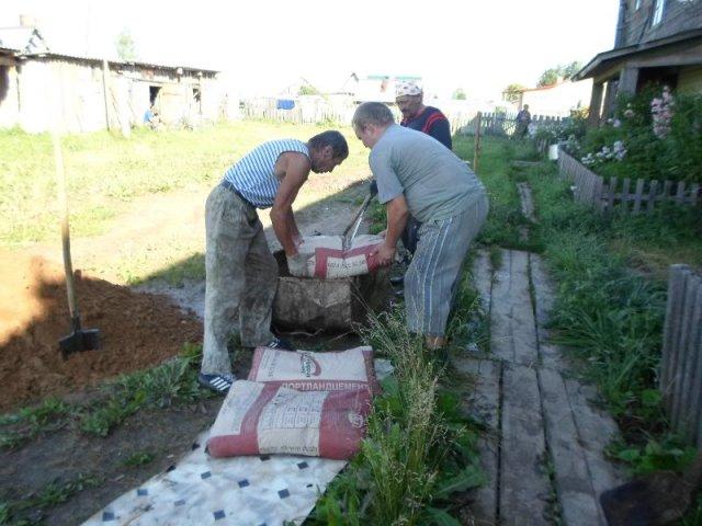 Процесс работы над подготовкой строительных материалов